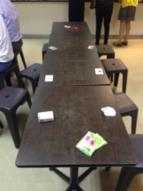 Image result for singapore chope table